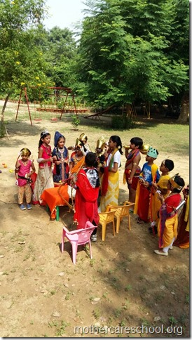 A short crisp Ramleela to see the story unfold bt children of LKG and MAG of Mothercare School