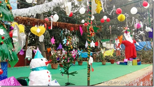 Stage Decorations For Christmas at Mothercare School - Mothercare School