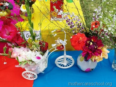flower arrangement mothercare school, aliganj, lucknow (1)