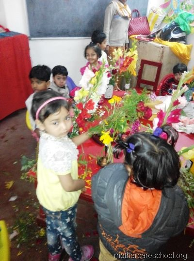 flower arrangement mothercare school, aliganj, lucknow (10)