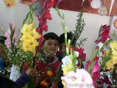 flower arrangement mothercare school, aliganj, lucknow (15)