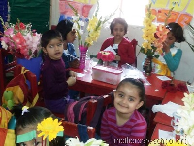 flower arrangement mothercare school, aliganj, lucknow (2)