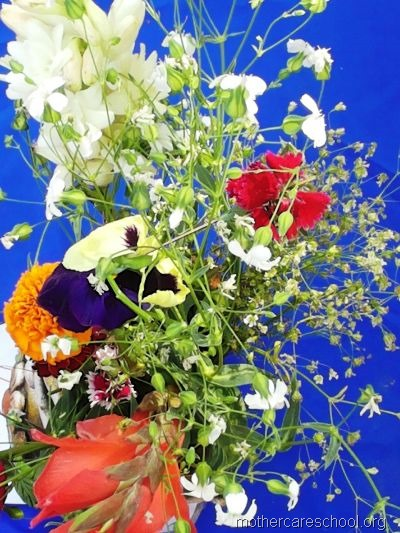 flower arrangement mothercare school, aliganj, lucknow (24)