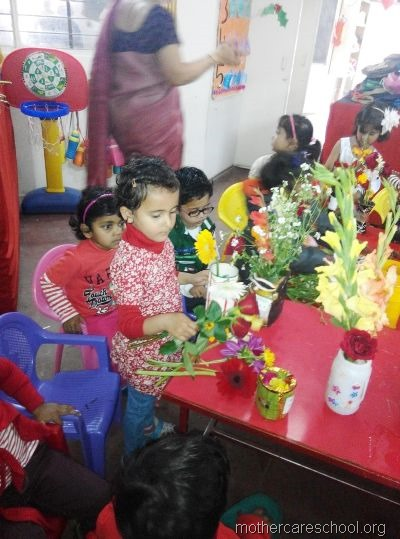 flower arrangement mothercare school, aliganj, lucknow (8)