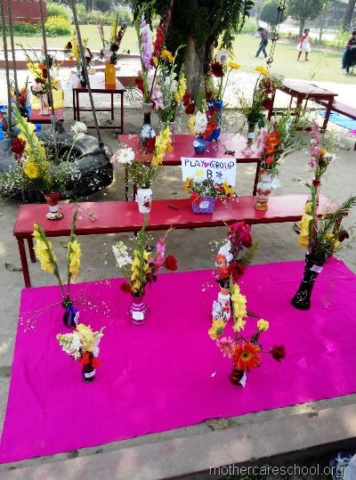 flower arrangement mothercare school, aliganj, lucknow (9)