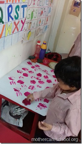 Getting ready for making Ravan at Mothercare School for Dusshera (2)
