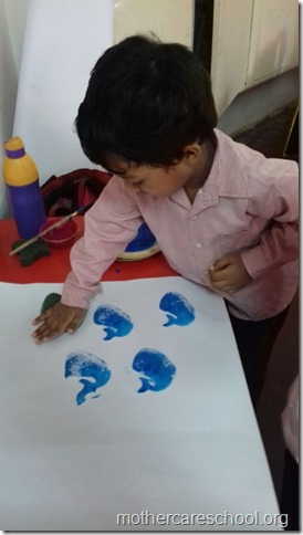 Getting ready for making Ravan at Mothercare School for Dusshera (3)