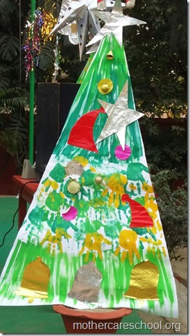 Handwork bonaza ofChristmas trees by the kids and teach (3)