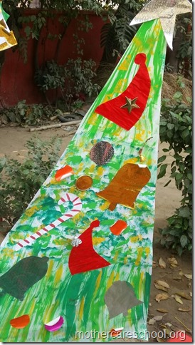 Handwork bonaza ofChristmas trees by the kids and teach (4)