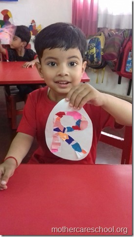 I learnt beginning sounds sounds of my  name shapes, colours and what they can do to put together (12)
