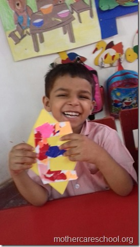 I learnt beginning sounds sounds of my  name shapes, colours and what they can do to put together (3)