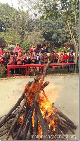 LOHRI and Makar Sankranti celebration in school with a bonfire (14)