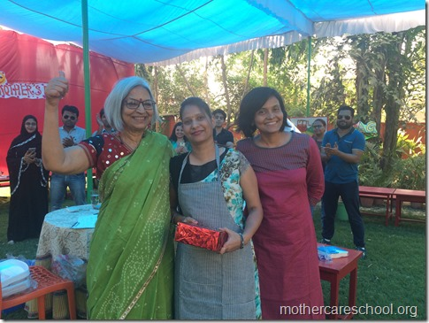 mom of  manasvi from lkg anuradha 1st prize