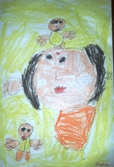 mothers day art by nursery children (4)