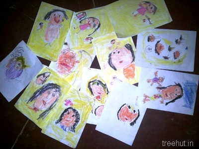 mothers day art by nursery children (5)