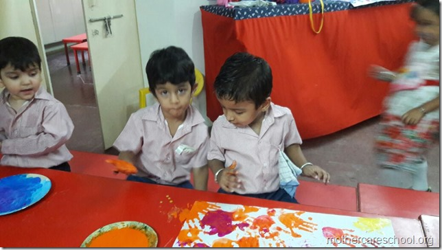 Ravan in the making by the playgroup at Mothercare school (5)